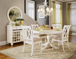 Distressed Dining Room Chairs Modest Design Round White Dining Room Table White Round Distressed