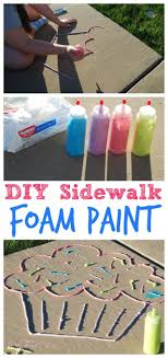 best ideas about babysitting nanny activities diy sidewalk foam paint