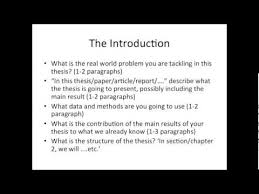 Elements and Structure of a Master Thesis   YouTube Elements and Structure of a Master Thesis