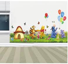 wall decal family art bedroom decor elegant   pool and tiger cartoons for font b kids b font font b room b font