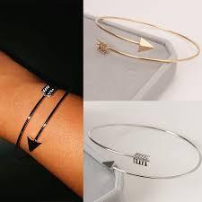 Punk Open Adjustable Arrow Cuff Bracelets for <b>Women Fashion</b> ...