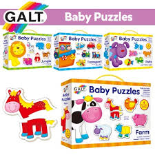 【Galt】Baby Puzzles (Farm / Jungle / Transport / Pets) : Toys - Qoo10
