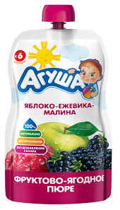 "<b>Пюре фруктовое</b> ""<b>Агуша</b>"" яблоко/ежевика/малина"
