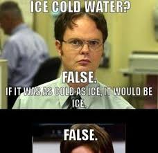 Ice Cold Water? False. Remix by mustapan - Meme Center via Relatably.com