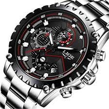 LIGE Watches Mens Luxury Stainless Steel ... - Amazon.com