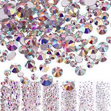 3456 Pieces Nail Crystals <b>AB</b> Nail Art Rhinestones Round Beads ...