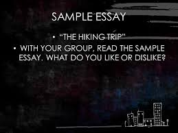 response to literature cahsee agenda  cahsee books  purpose of  sample essay the hiking trip with your group read the sample essay