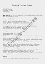 resume samples for nursery teachers resume builder resume samples for nursery teachers 7 teachers resume samples and formats now resume resume template