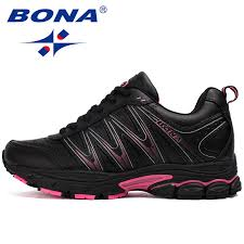 <b>BONA New Hot Style</b> Women Running Shoes Lace Up Sport Shoes ...