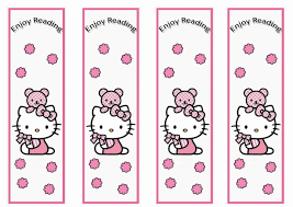 hello kitty birthday printable hello kitty bookmarks