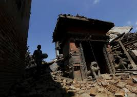 how to help the victims of s earthquake disaster newshour a boy walks past a damaged temple after saturday s earthquake in bhaktapur on monday