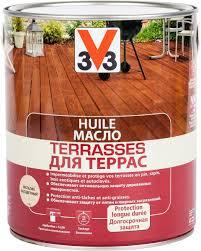 """<b>Масло для террас</b> """"V33"""", цвет: прозрачный, 2,5 л — купить в ..."""