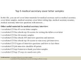 top medical secretary cover letter samples jpg cb  top 5 medical secretary cover letter samples in this file you can ref cover letter