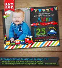 transportation birthday invitation transportation birthday 🔎zoom