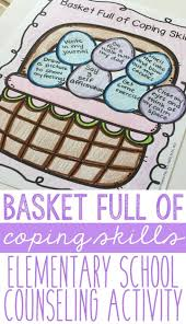 best ideas about school counselor middle school basket full of coping skills spring handouts for elementary school counseling