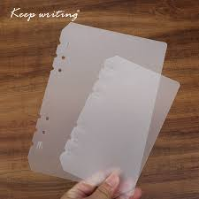 <b>A5</b>/<b>A6 6 Holes</b> Notebook Index Page 2pcs/set Binder Inner Pages ...