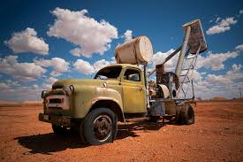 Image result for old miner's trucks pics.