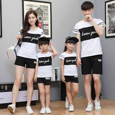 <b>Family matching clothing</b> sets 2018 <b>summer family</b> t shirts with ...