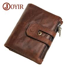 <b>JOYIR</b> Wallet <b>Men Leather Genuine</b> Vintage Coin Purse ...