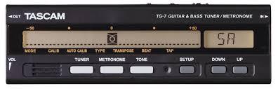 <b>Тюнер Tascam TG</b>-<b>7</b> Chromatic <b>Guitar</b> and Bass Tuner / Metronome ...
