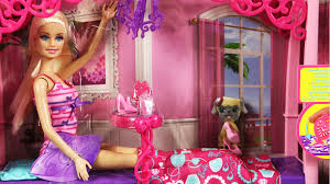 barbie bedroom furniture and doll set mattel x7941 md toys youtube barbie bedroom furniture