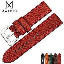 <b>MAIKES New</b> fashion <b>watch accessories</b> 20 22 24 26mm Italian ...