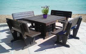 source recycled plastic furniture table chairs source cheap plastic patio furniture