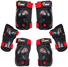 JBM <b>3 in 1</b> Protective Gear Set - Wrist Guards, <b>Elbow</b> Pads and Knee