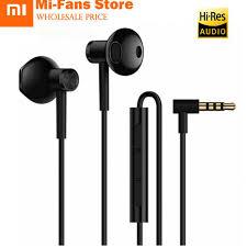 <b>Original New Xiaomi</b> Mi Dual Units Half In Ear Earphones 3.5MM ...