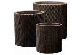 <b>Кашпо</b> комплект S+M+L <b>Keter Cylinder Planters</b>, арт. 17197934 ...