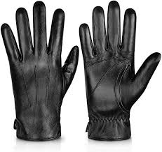 <b>Genuine</b> Sheepskin <b>Leather Gloves</b> For Men, Winter Warm ...