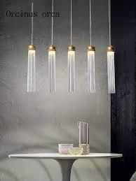 <b>Nordic modern minimalist LED</b> glass chandelier Restaurant Bar ...