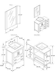 architecture bathroom toilet: dimensions of vanity and mirror fvn  vsl manual