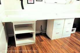 build a large surface home office desk from inexpensive 34 mdf wood build office desk