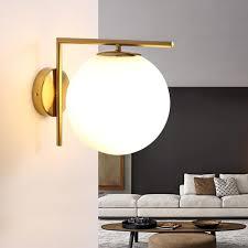 2019 220v 110v Modern <b>Nordic Led Gold</b> Glass Bedside <b>Wall</b> Light ...