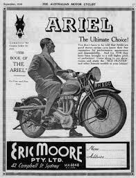 1938 BSA Australia advertisement * | motorcycle on the poster ...