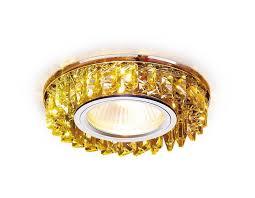 Встраиваемый <b>светильник Ambrella light</b> Crystal <b>S255</b> CH/YL ...