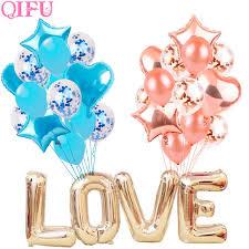 <b>QIFU</b> 10pcs 12inch Rose Gold <b>Balloon</b> Confetti Latex <b>Balloons</b> Air ...