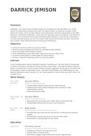 security officer resume samples   visualcv resume samples databasesecurity officer resume samples
