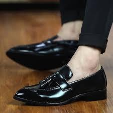 <b>Men's shoes</b> leather <b>Business Shoes</b> Slip-on <b>Shoes Tassel</b> formal ...