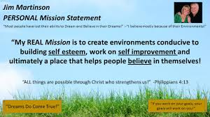 welcome to team tenacious welcome to team tenacious ppt jim martinson personal mission statement most people have lost their ability to dream and believe in