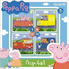 <b>Пазл Origami</b> Peppa Pig: Транспорт 4 в 1 - купить в Москве: цены ...