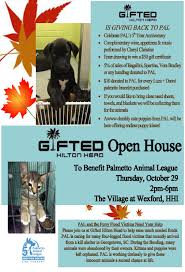 gifted and palmetto animal league open house palmetto animal league gifted and pal open house flyer