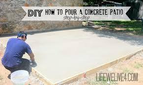 concrete patio slab