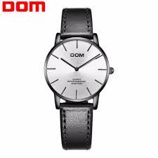 <b>DOM Women Watch Top</b> Brand Luxury Waterproof Ultra Thin ...