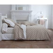 Clarisse Beige Polka Dot Print Cotton Pillowcases Beige/white ...
