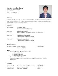 sample objectives in resume  seangarrette co  resume sample objectives for fresh graduates    sample objectives in resume