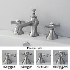 satin nickel bathroom faucets: french country widespread satin nickel bathroom faucet