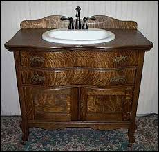 washstand bathroom pine: photo of front view antique bathroom vanity antique oak washstand with sink and bronze