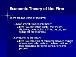 Economic theory of Firm
